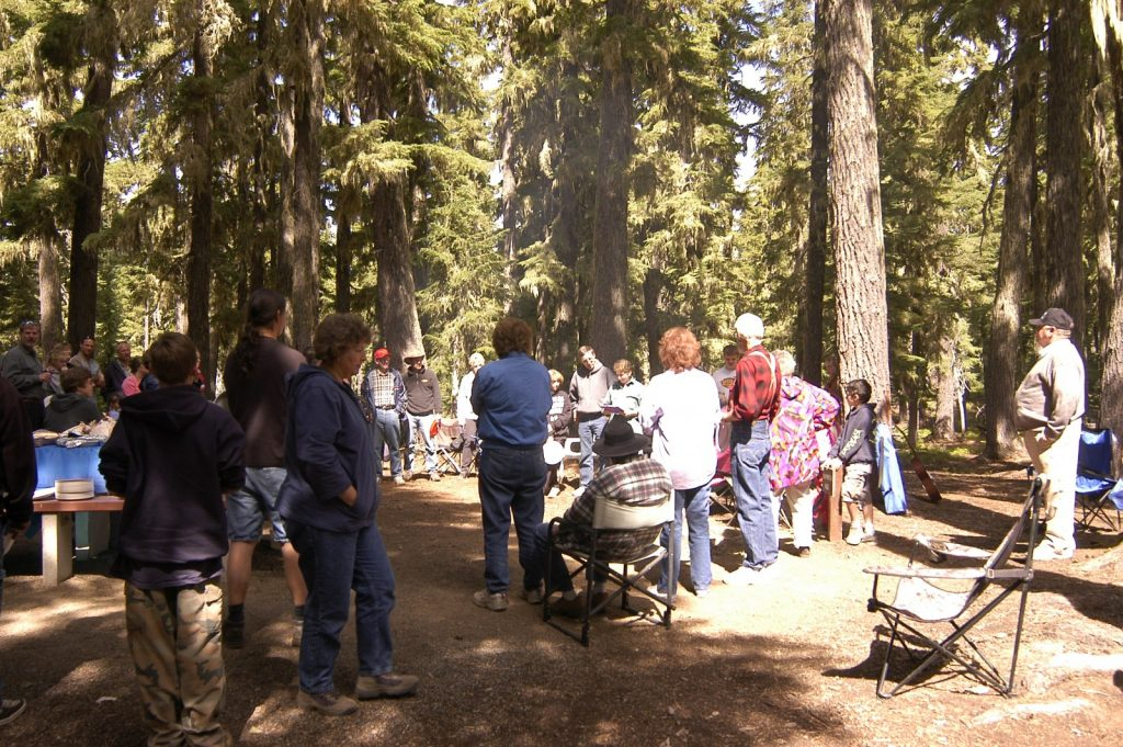Annual Labor Day Campout, Church & Potluck at Waldo Lake